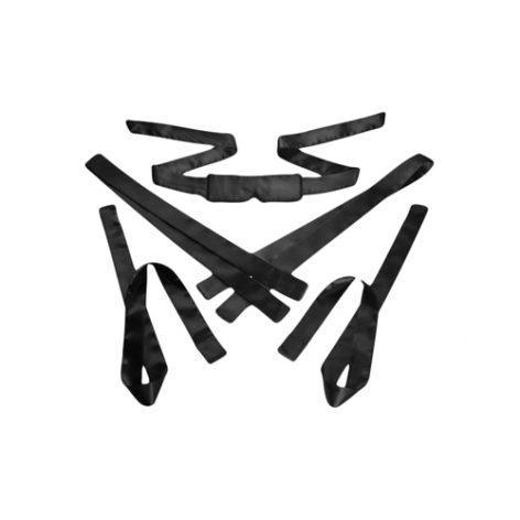 5 delige Bondage Set Satijn - Black - GreyGasms