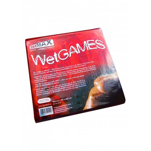SexMAX WetGAMES Laklaken 180 x 220 cm - Rood - Joydivision