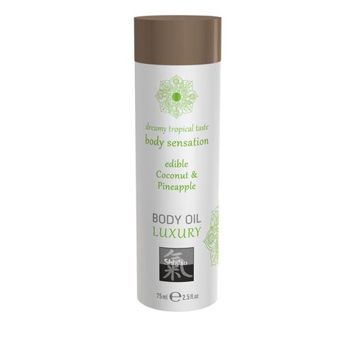Luxe Eetbare Body Oil - Kokosnoot & Ananas - Shiatsu